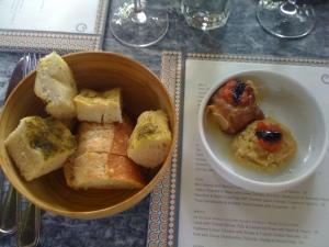 bread basket & hummus