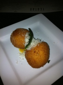 cheese pumpkin & lobster arancini