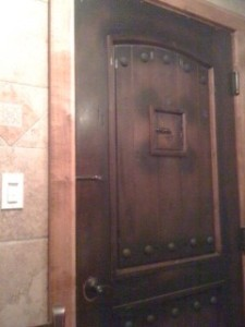 bathroom door