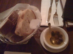 bread and EVOO