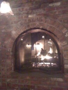 brick columns / fire decor