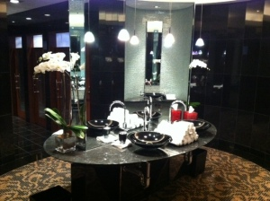 center of bathroom