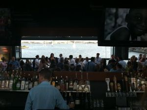 3rd fl bar (mirror reflecting view of harbor)