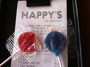lollipops with the check!