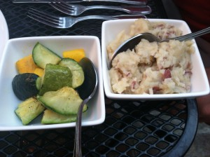 Spicy Squash & Zucchini, Mashed Potatoes