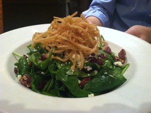Pear Spinach Salad - full portion