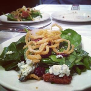 Pear Spinach Salad - tasting